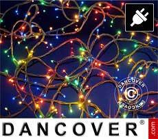Catena di luci LED, 25m, Multifunzione, Multicolore, Cavo trasparente