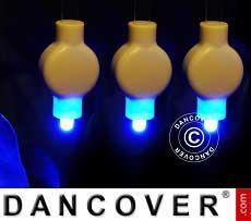 Luci LED per lanterne di carta, 20 pezzi, blu
