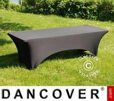 Copri-tavolo elasticizzato, 244x75x74cm, Noir