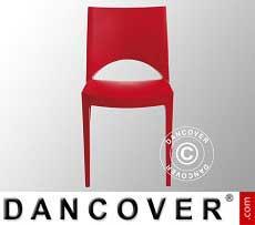 Sedia con braccioli, Paris, Rosso, 6 pz.