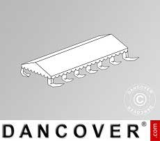 Copertura del tetto per il Tendone per feste Exclusive 5x12m PCV, Bianco