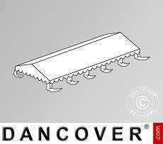 Copertura del tetto per il Tendone per feste Original 4x10m PVC, Bianco