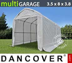 Tenda magazzino multiGarage 3,5x8x3x3,8m, Bianco