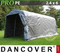 Tenda magazzino PRO 2,4x6x2,34m PE, Grigio