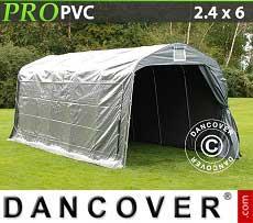 Tenda magazzino PRO 2,4x6x2,34m PVC, Grigio