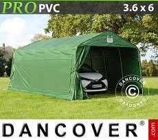 Tenda garage PRO 3,6x6x2,68m PVC, verde