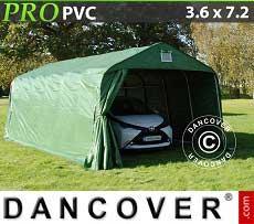 Tenda garage PRO 3,6x7,2x2,7m PVC, verde