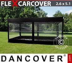 Garage portatile FleX Carcover, 2,6x5,14m, Nero
