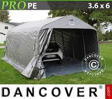Tenda garage PRO 3,6x6x2,68m PE con pavimento