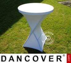 Copri-tavolo elasticizzato, Ø80x110cm, Bianco