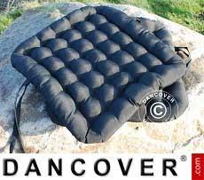 Cuscino per sedia, 41x44x5cm nero, 4 pz.