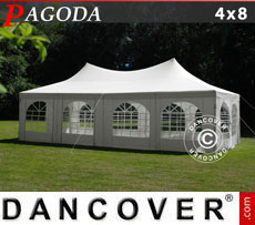Tendone per feste Pagoda 4x8m, Toni di bianco