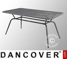 Tavolo da giardino, Conello, 90x160x74cm, Grigio Ghisa