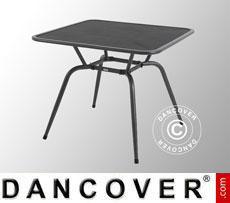 Tavolo da giardino, Conello, 90x90x74cm, Grigio Ghisa