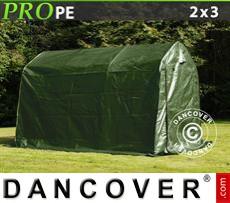 Capannone tenda PRO 2x3x2m PE, Verde