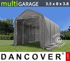 Capannone tenda multiGarage 3,5x8x3x3,8m, Grigio