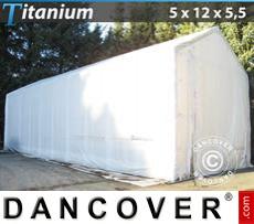 Capannone tenda Titanium 5x12x4,5x5,5m, Bianco