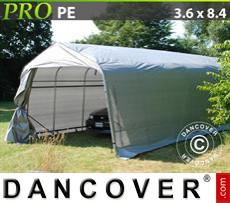 Capannone tenda PRO 3,6x8,4x2,7m PE, Grigio