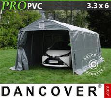 Capannone tenda PRO 3,3x6x2,4m PVC, Grigio