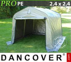 Capannone tenda PRO 2,4x2,4x2m PE, Grigio
