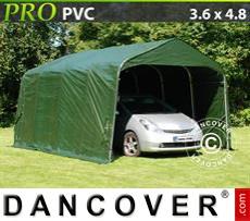Capannone tenda PRO 3,6x4,8x2,7m, PVC, Verde