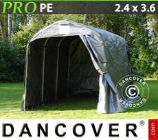 Capannone tenda PRO 2,4x3,6x2,34m PE, Grigio