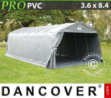 Capannone tenda PRO 3,6x8,4x2,68m PVC, con pavimento, Grigio