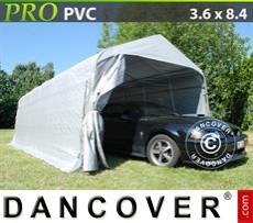 Capannone tenda PRO 3,6x8,4x2,68m PVC, Grigio