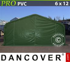 Capannone tenda PRO 6x12x3,7m PVC, Verde