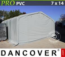 Capannone tenda PRO 7x14x3,8m PVC, Grigio
