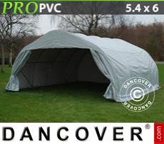 Capannone tenda 5,4x6x2,9m PVC, Grigio
