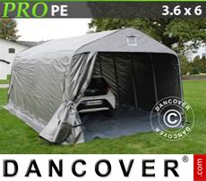 Capannone tenda PRO 3,6x6x2,68m PE, con pavimento, Grigio