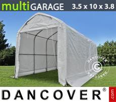 Capannone tenda multiGarage 3,5x10x3x3,8m, Bianco