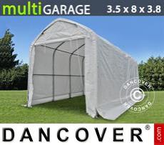 Capannone tenda multiGarage 3,5x8x3x3,8m, Bianco