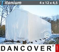 Capannone tenda Titanium 4x12x3,5x4,5m, Bianco