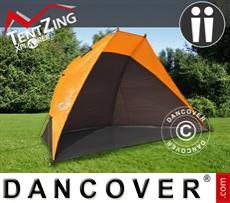 Tenda da spiaggia, TentZing®, 2 persone, Arancione/Grigio Scuro