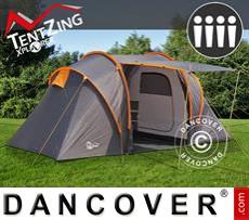 Tenda da campeggio, TentZing® Xplorer Familiare, 4 persone, Arancio/Grigio...
