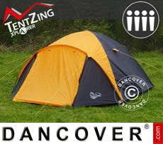 Tenda da campeggio, TentZing® Igloo, 4 persone, Arancione/Grigio Scuro