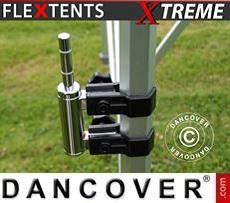 Portabandiera con doppio morsetto per FleXtents Xtreme, 50mm