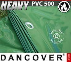 Telo 6x12m PVC 500 g/m² Verde, Ignifugo