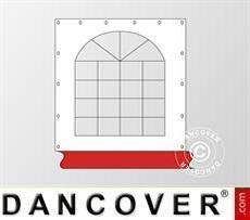 Fianco finestrato per tendone Original, Bianco / rosso