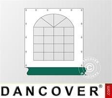 Fianco finestrato per tendone Exclusive, Bianco / verde