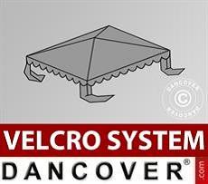 Copertura per il tetto del Tendone per Feste UNICO, PVC/Poliestere, 3x3m, Grigio…