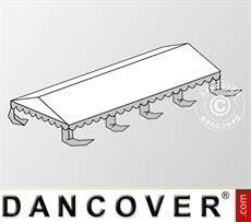 Copertura del tetto per il Tendone per feste Original 5x8m PVC, Bianco / Grigio