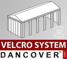 Copertura del tetto in Velcro per il tendone Original 4x10m, Bianco / Grigio