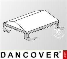 Copertura del tetto per il Tendone per feste Plus 3x6m PE, Bianco / Grigio