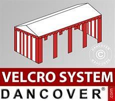 Copertura del tetto in Velcro per il tendone Exclusive 6x12m, Bianco / Grigio