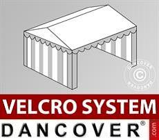 Copertura del tetto in Velcro per il tendone Plus 4x6m, Bianco / Grigio