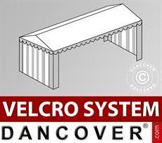 Copertura del tetto in Velcro per il tendone Plus 4x10m, Bianco / Grigio