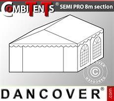 Estensione terminale di 4 m per Semi PRO CombiTent, 8x4m, PVC, Bianco
